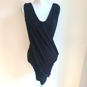 Blaque Label Black Ruched Mini Dress Small NWT